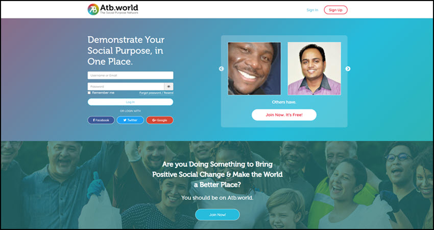 Learn about Atb.world Social Purpose Network
