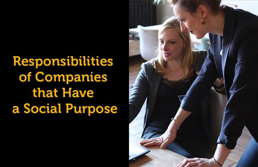 Social purpose responsibilities of companies