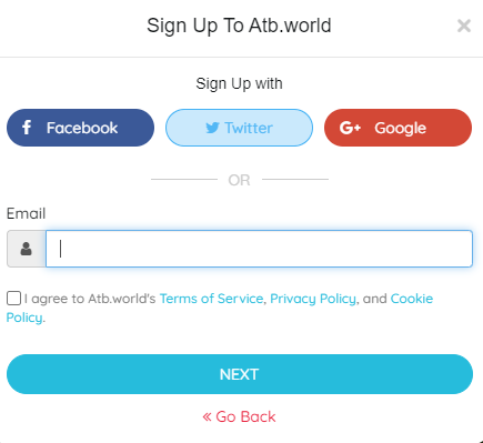 How you can sign up as individual