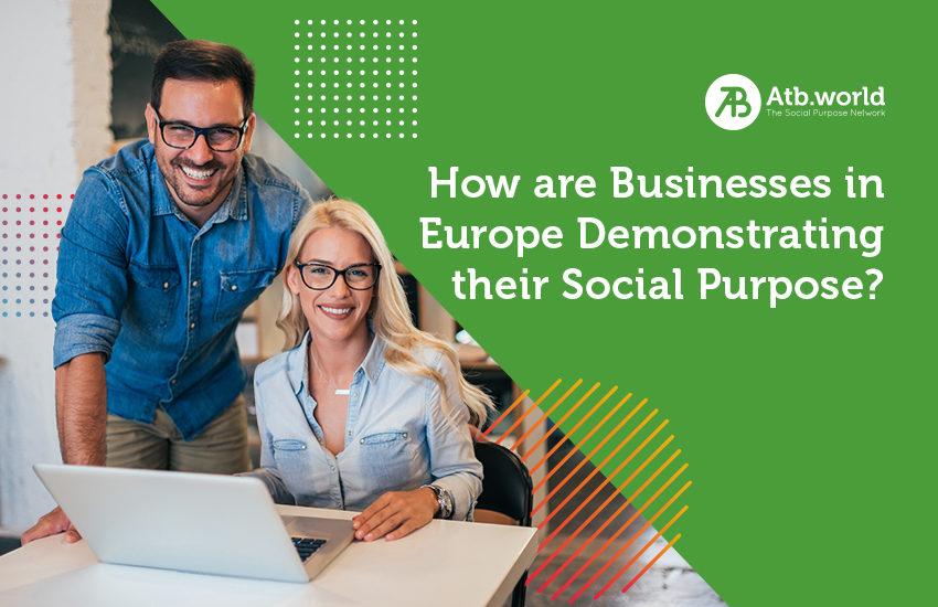 Businesses demonstrating their social purpose